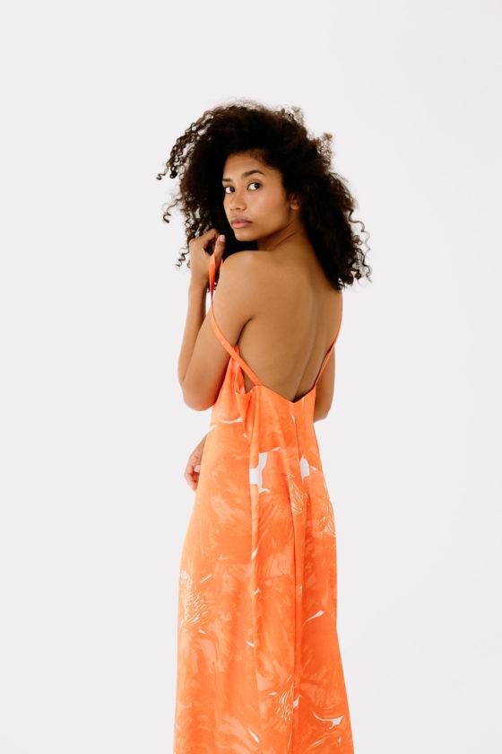 vestido lencero estampado