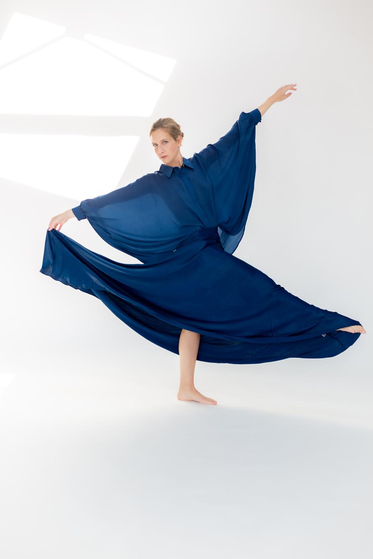 Falda EVASE azul