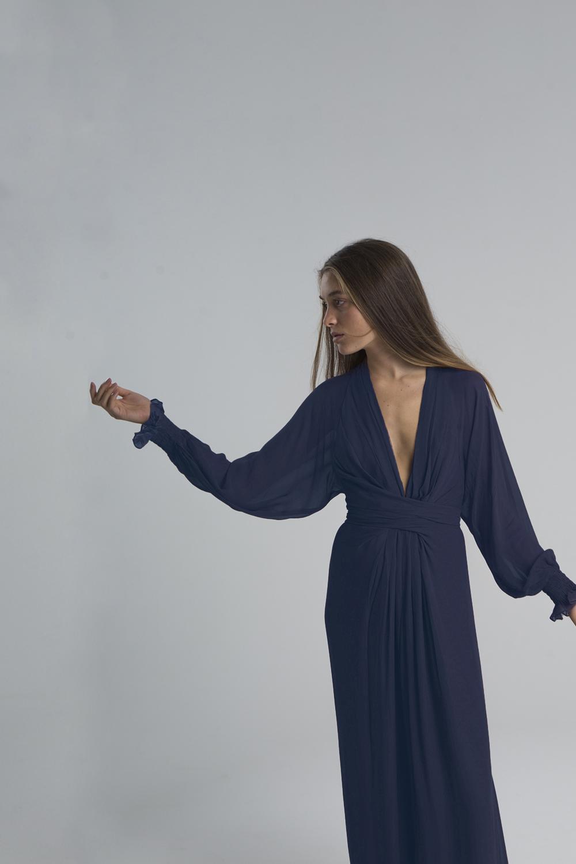 Vestido Bibury azul marino