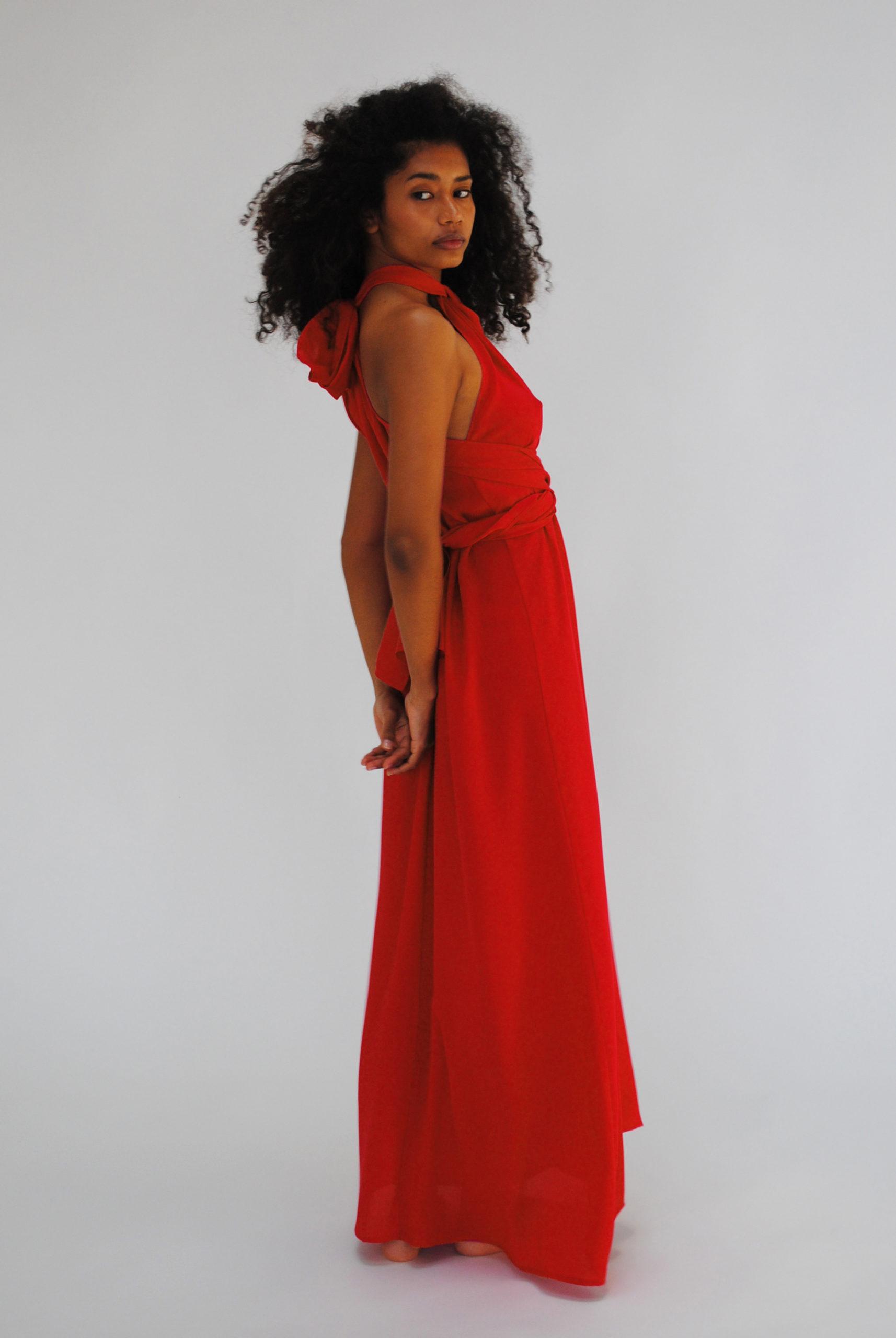 Vestido TIZZIANO rojo