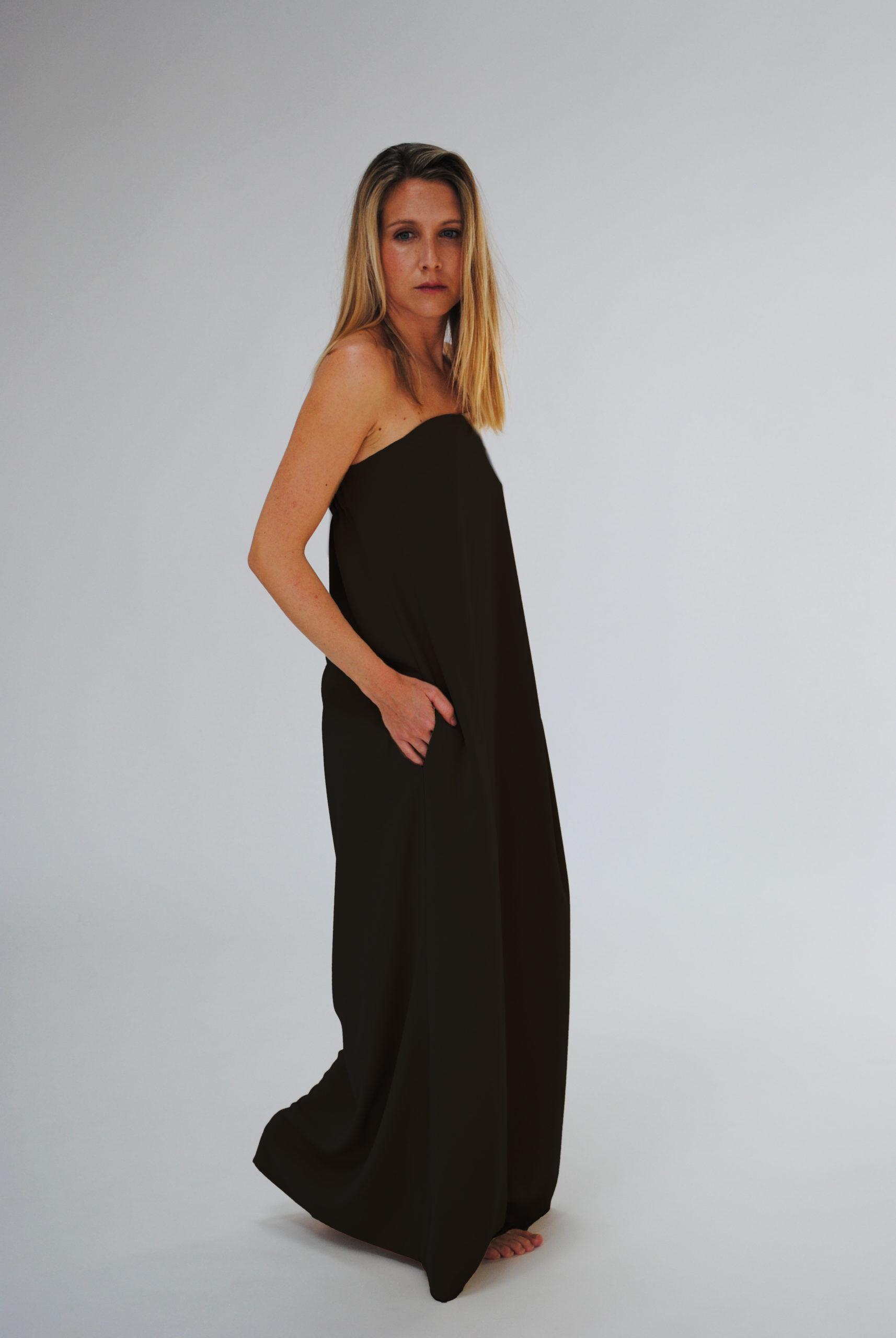 vestido benetti negro