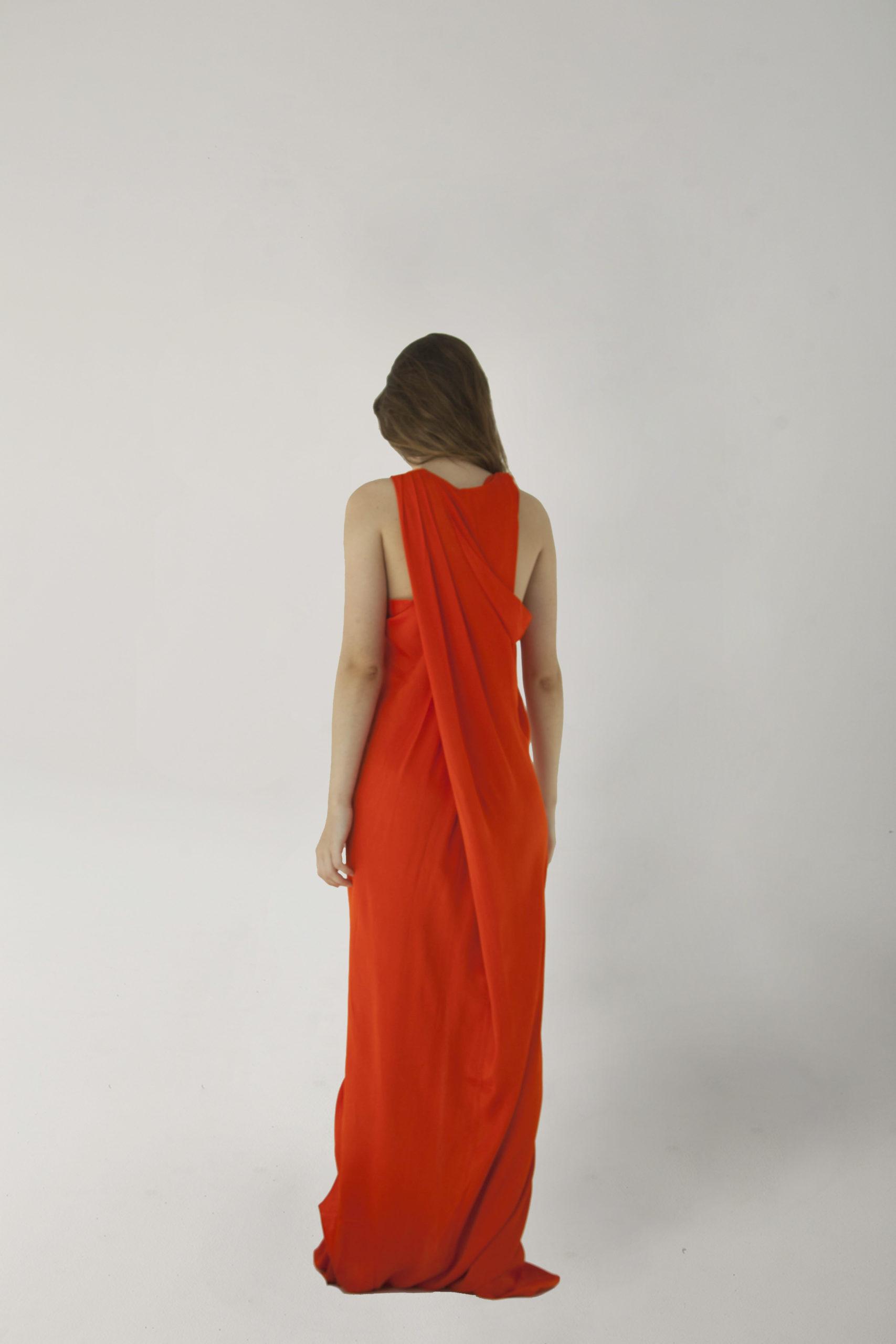 vestido deesa rojo espalda