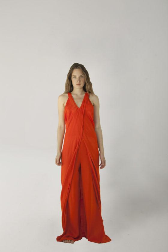 vestido deesa rojo